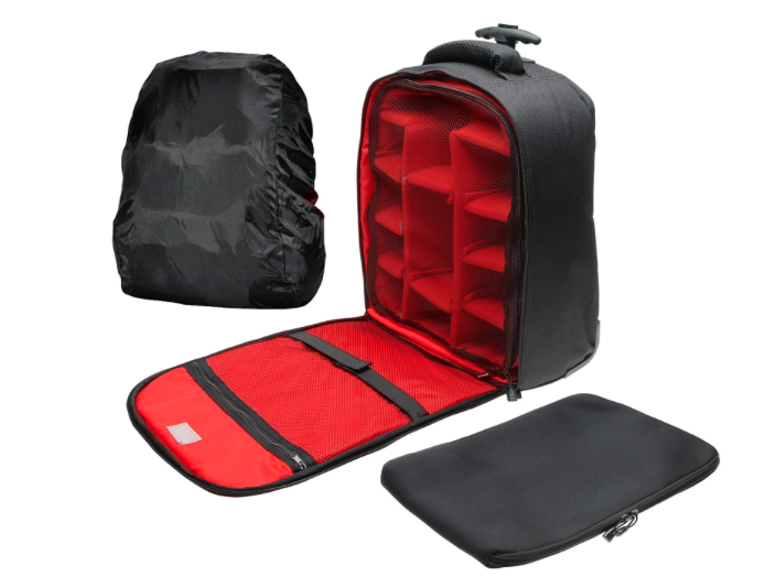 Precision Design PD-BPT DSLR Camera Backpack withWheels
