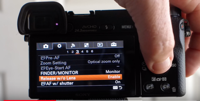 Sony A6000 Settings for AdaptedLenses